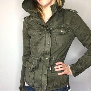 Aritzia Talula army green utility jacket